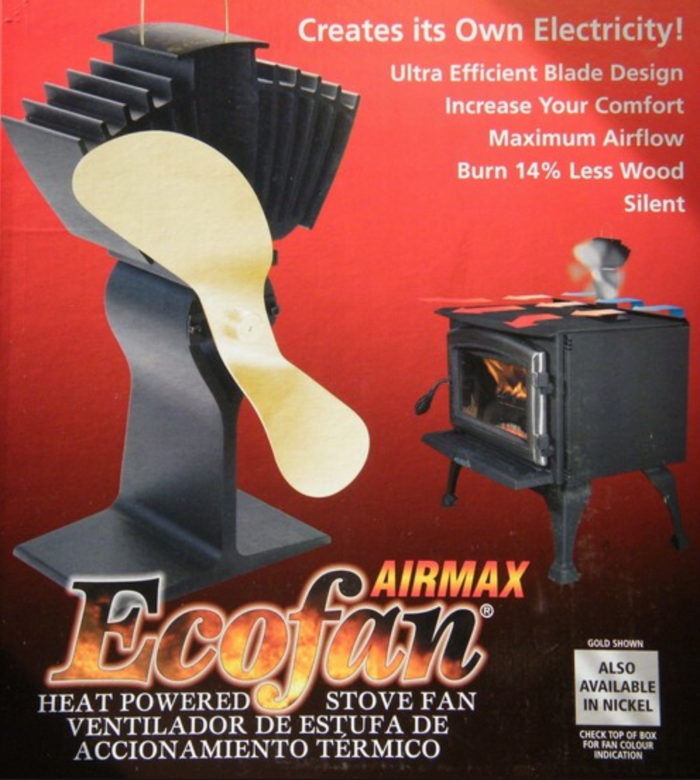 Eco fan stove fan